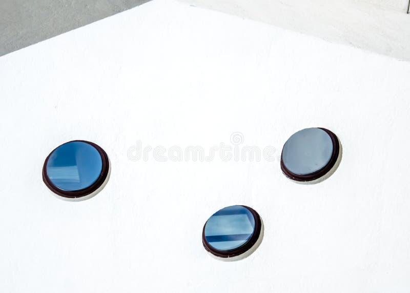 三个圆的窗口作为设计方法 库存图片