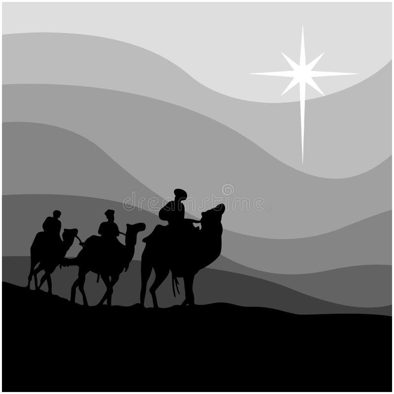 三个圣人旅途导航在白色隔绝的例证 库存例证
