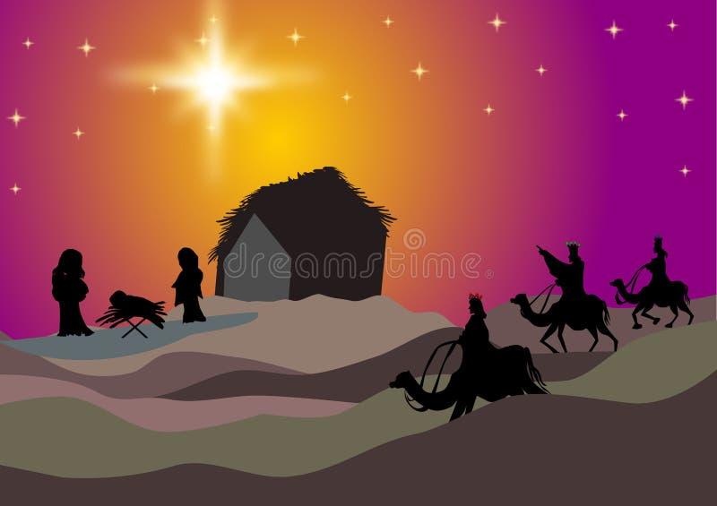 三个圣人沙漠 库存例证