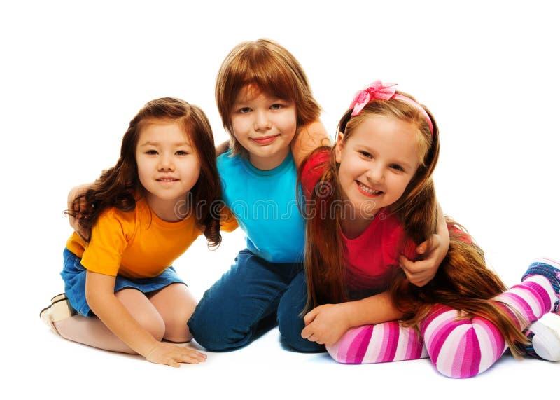 小的组小孩 库存照片