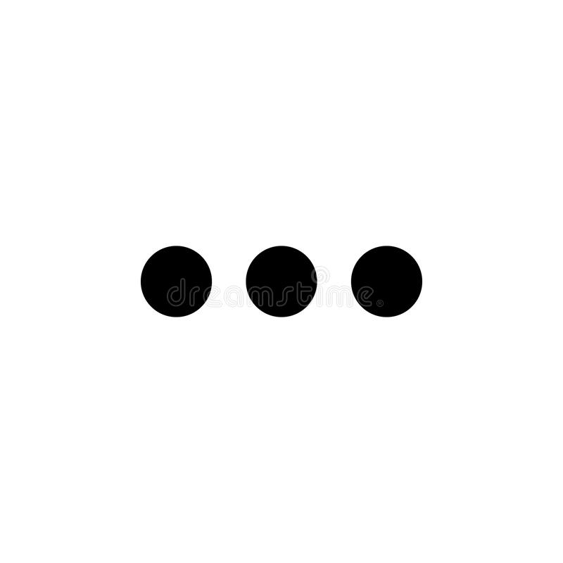 三个小点象 minimalistic象的元素流动概念和网apps的 标志和标志汇集象网站的,网 向量例证