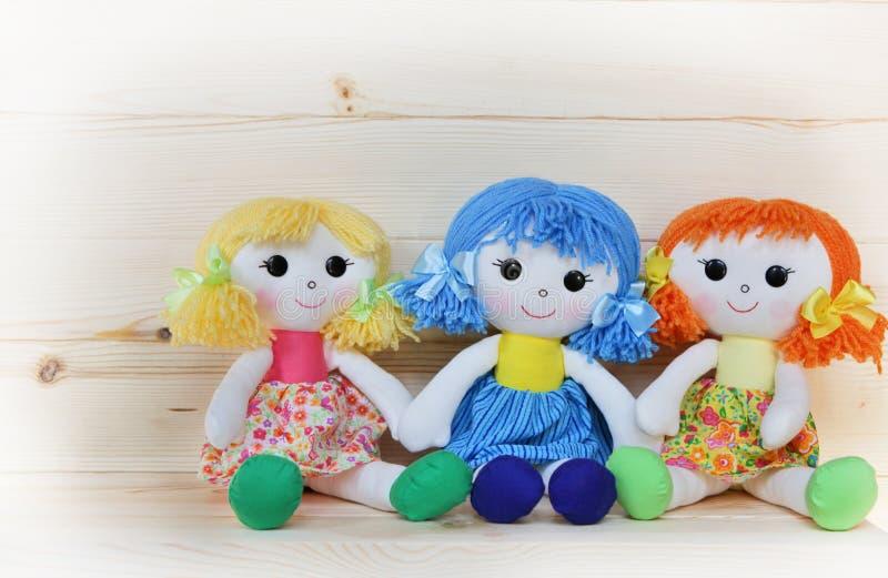 三个愉快的布洋娃娃 库存照片