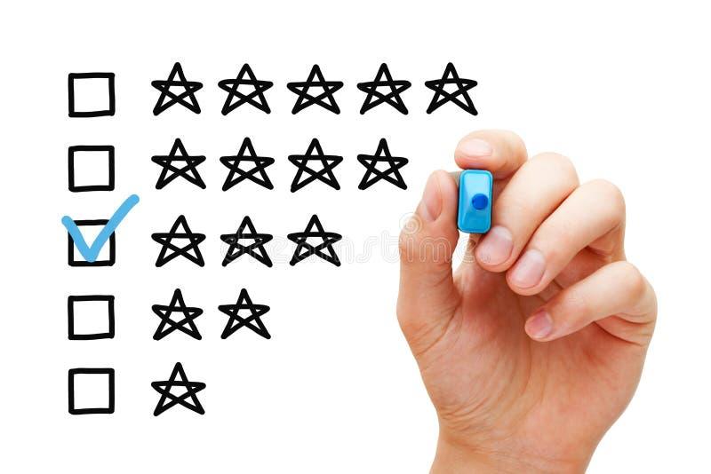 三个星平均对估计的概念 免版税库存照片