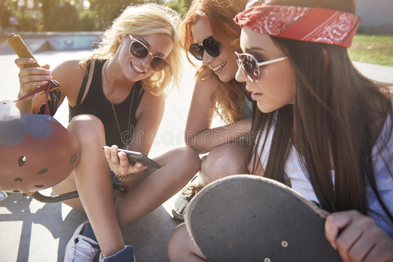 三个最佳的女朋友 免版税库存照片