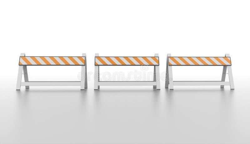三个桔子路障碍 向量例证