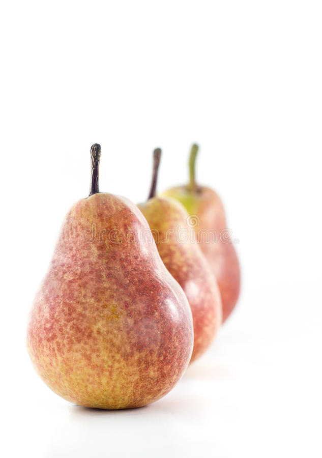 三个梨连续 免版税库存图片