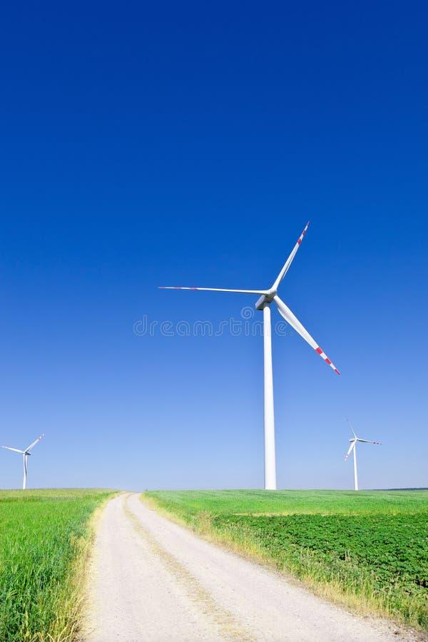 三个涡轮风 库存图片