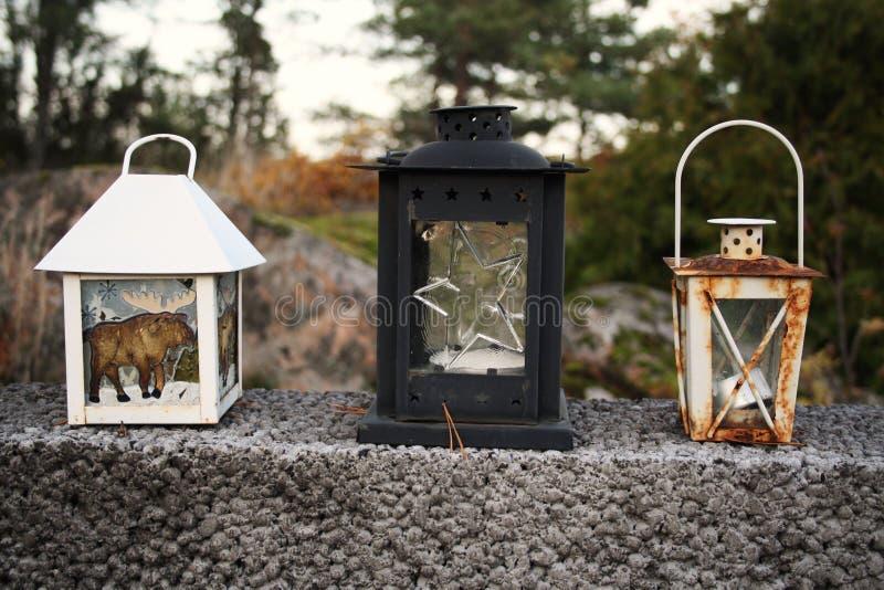 三个灯笼 库存图片