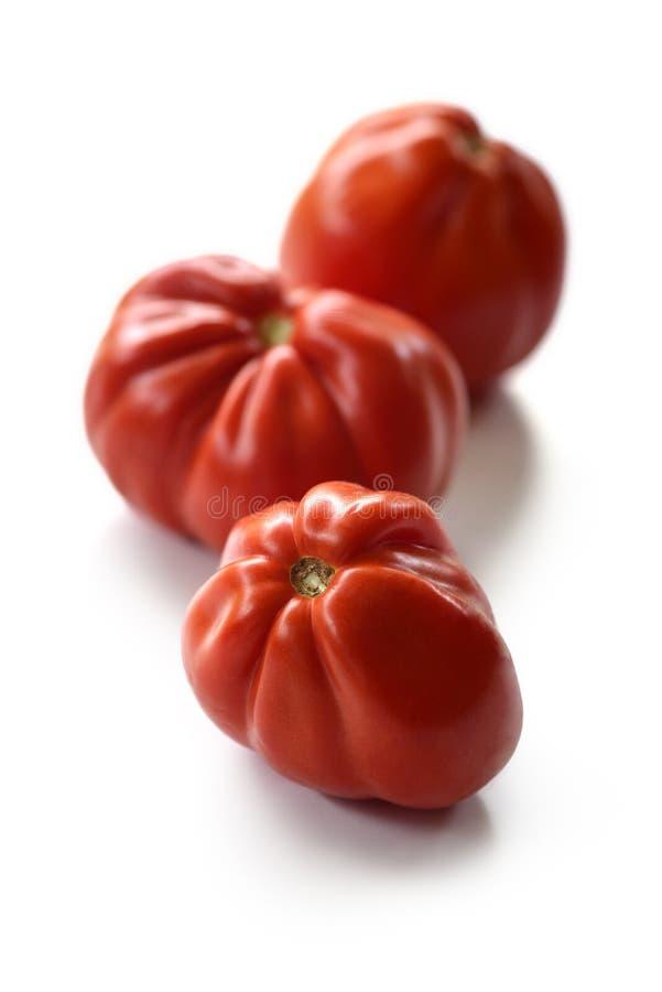 三个牛排蕃茄 库存图片