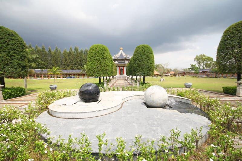 三个王国公园,芭达亚泰国 免版税图库摄影