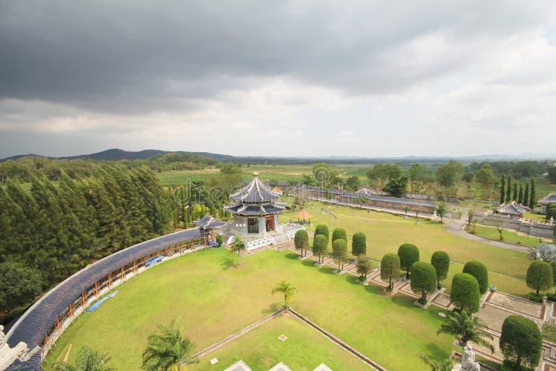 三个王国公园,芭达亚泰国 库存图片