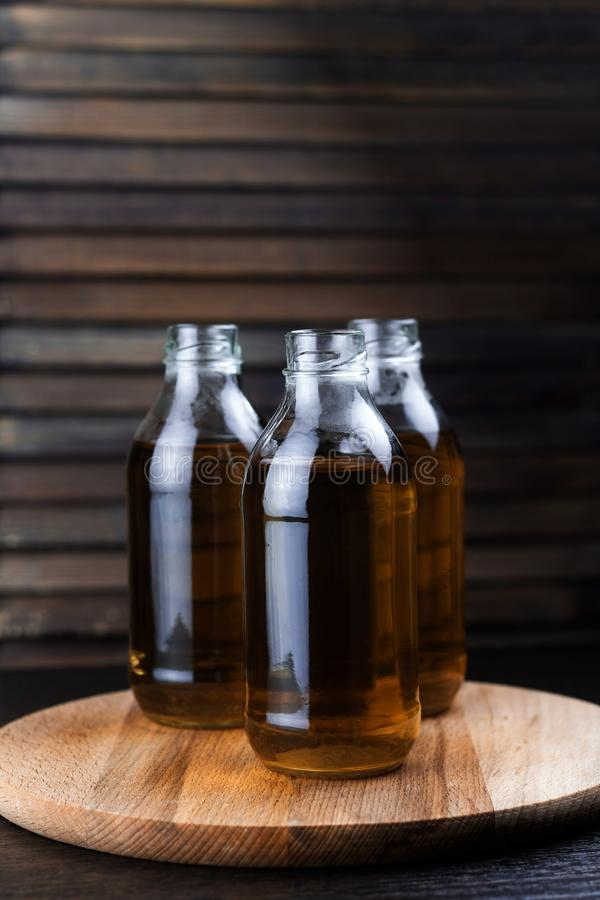三个瓶新饮料 免版税库存照片