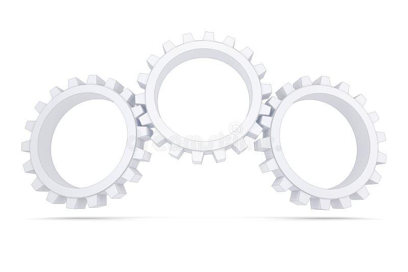 三个空白齿轮 库存例证