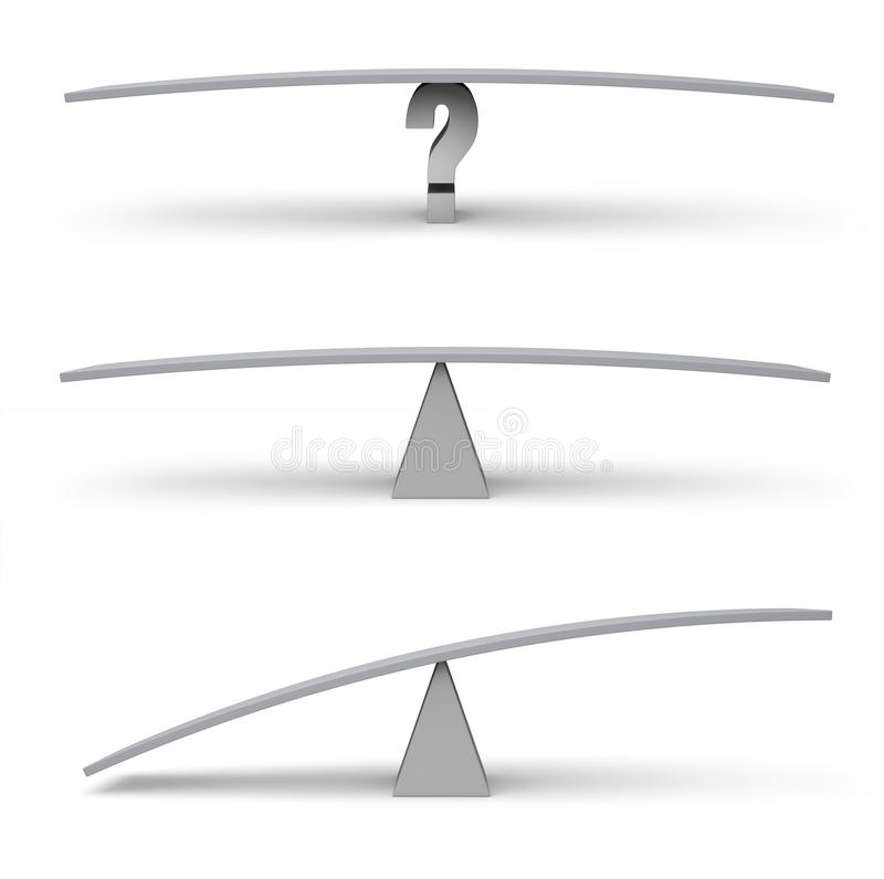 三个空的平衡木标度 向量例证