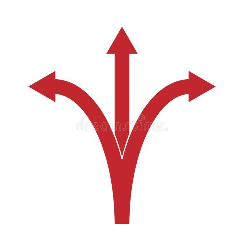 三个箭头指向 皇族释放例证