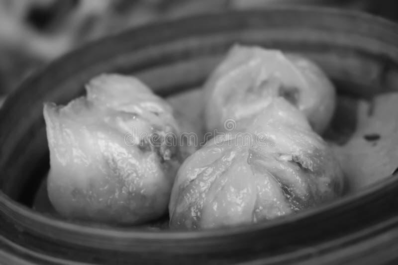 三个粤式点心蒸汽饺子在香港 图库摄影