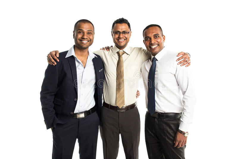 三个英俊的非裔美国人的商人 免版税图库摄影
