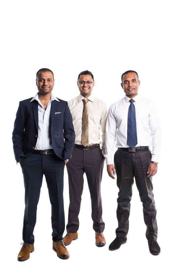 三个英俊的非裔美国人的商人 免版税库存照片