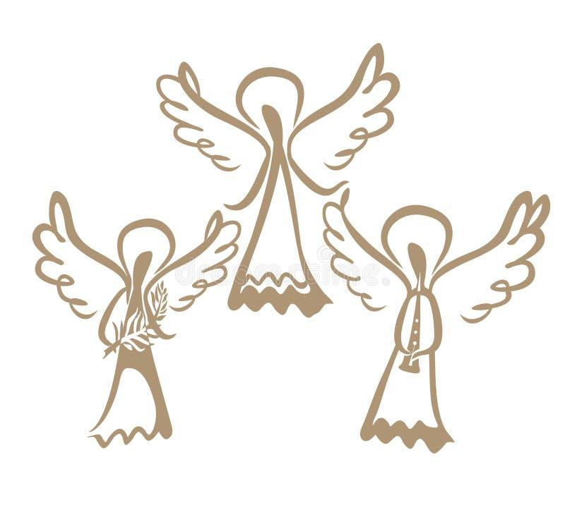 三个被绘的天使 皇族释放例证