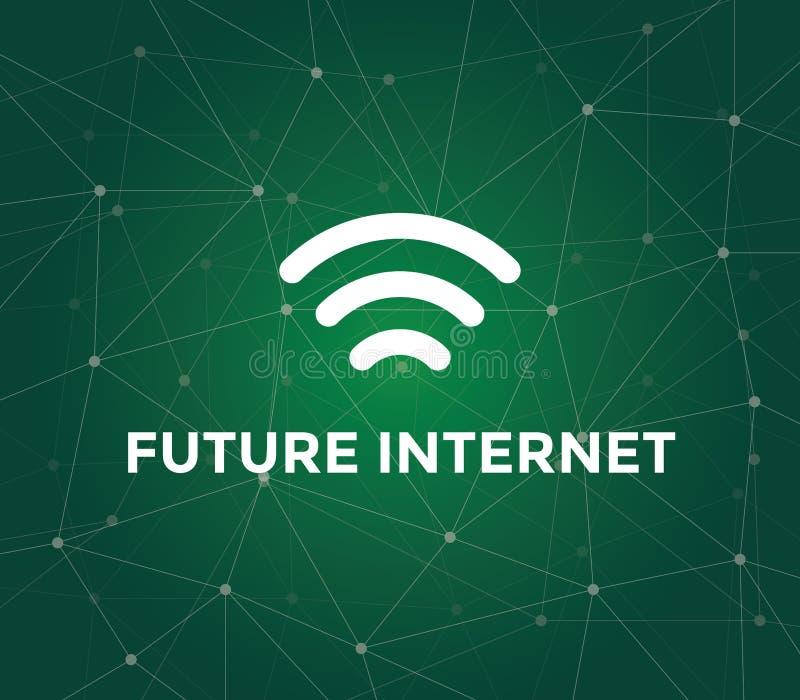 三个酒吧未来互联网技术例证的信号象 向量例证