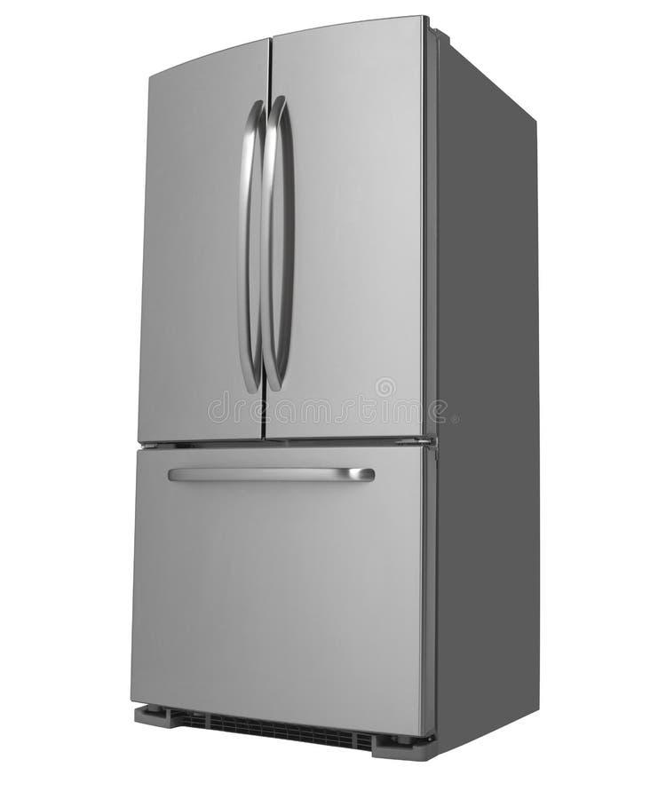 三个门冰箱饰面 库存照片