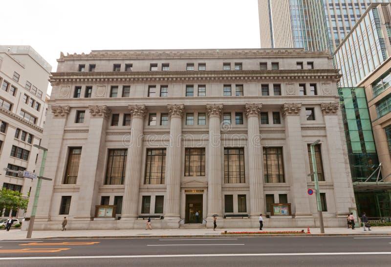 三井银行和信任大厦在东京,日本 免版税库存照片