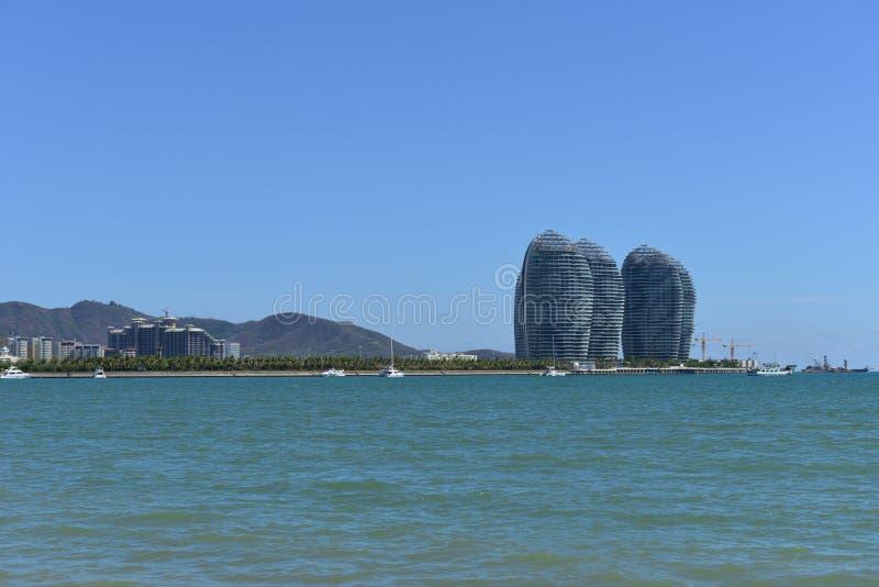 三亚湾,海南岛,中国 库存照片