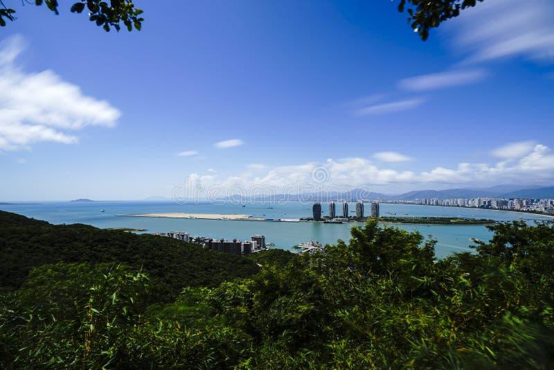三亚菲尼克斯群岛全景 库存图片