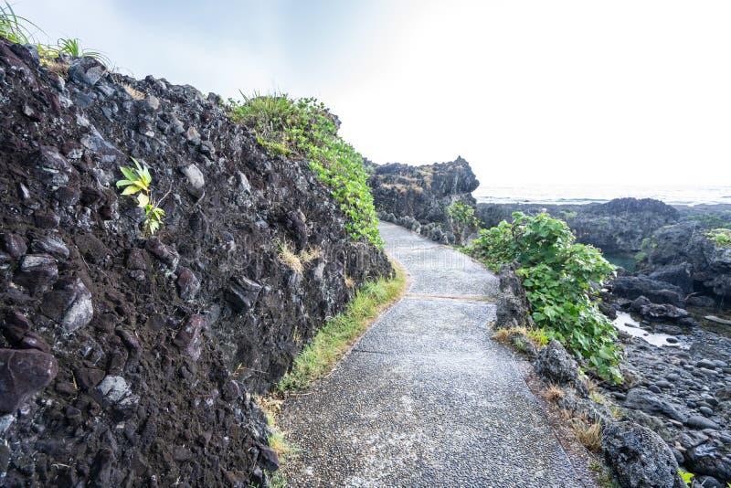 三仙台位于呈贡乡北部在台东县 它compsed近海海岛和珊瑚礁 库存照片