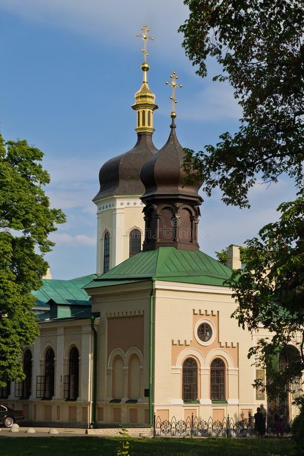三位一体修道院在基辅 库存照片