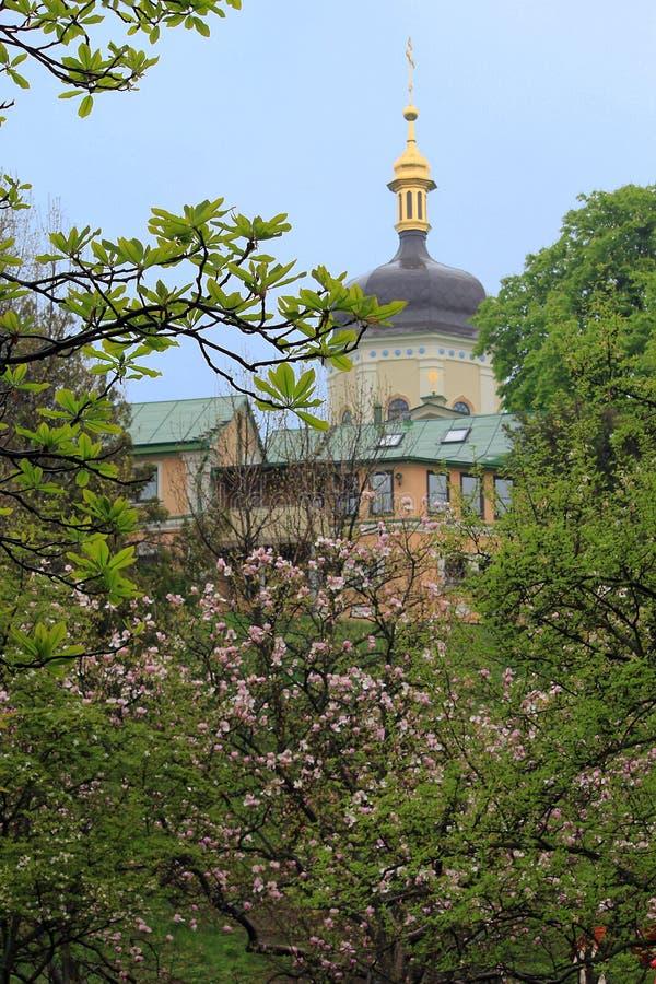 三位一体修道院,基辅,乌克兰 免版税图库摄影