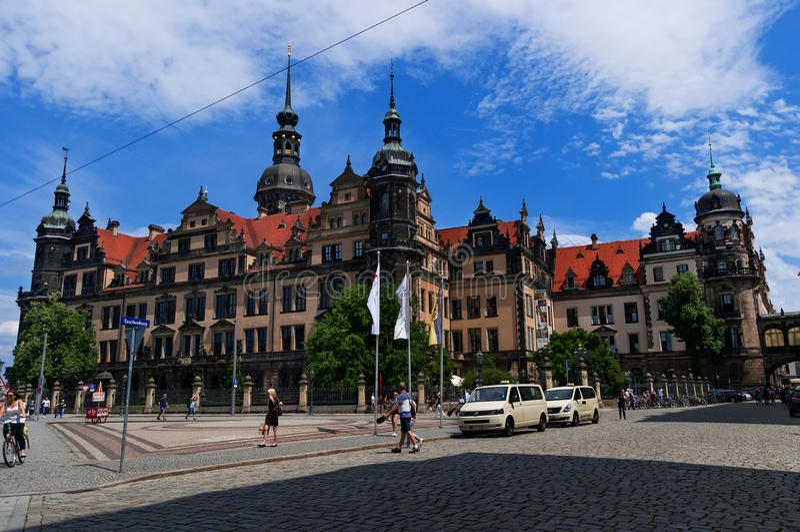 三位一体或Hofkirche,德累斯顿城堡的德累斯顿大教堂在德累斯顿,萨克森,德国 免版税库存照片