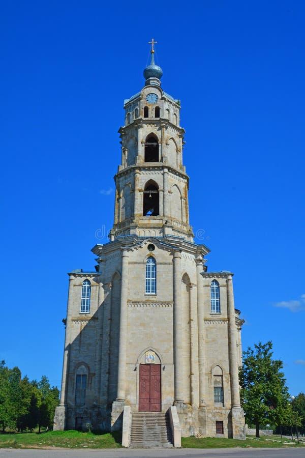 三位一体教会在GusZhelezny解决,俄罗斯Belltower  免版税库存照片