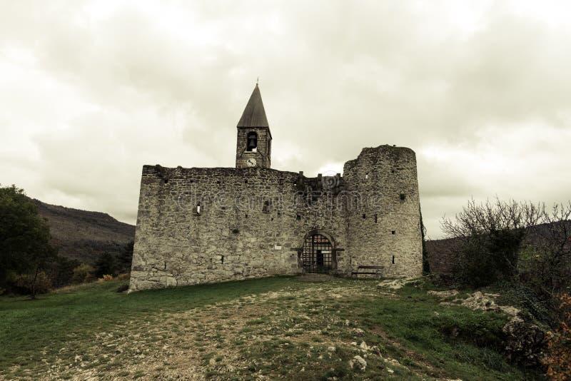 三位一体教会在Hrastovlje,斯洛文尼亚 库存图片