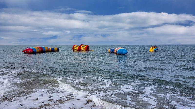 三位一体海滩水上运动 免版税库存图片