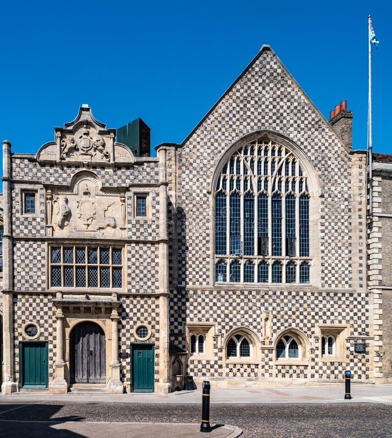 三位一体的市政厅在林恩,诺福克,英国国王的 库存照片