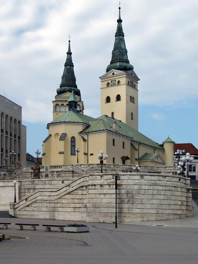 三位一体的教会, Zilina 免版税库存照片