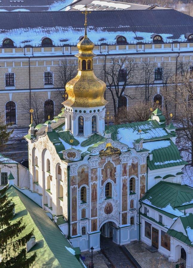 三位一体的门教会在基辅Pechersk拉夫拉 库存图片