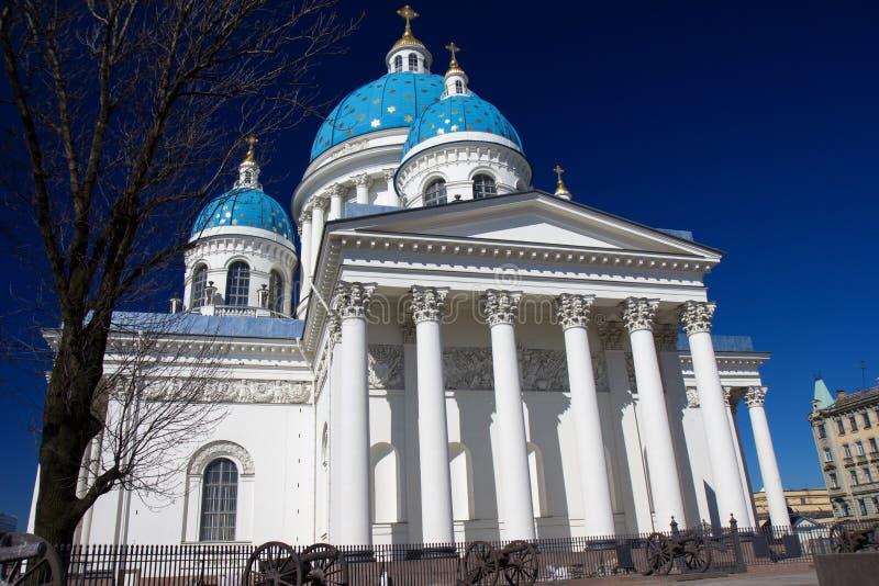 三位一体Izmailovo大教堂,圣彼得堡 库存照片