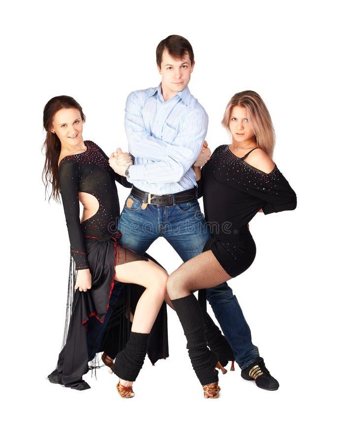 三位忙碌舞蹈家 免版税库存照片