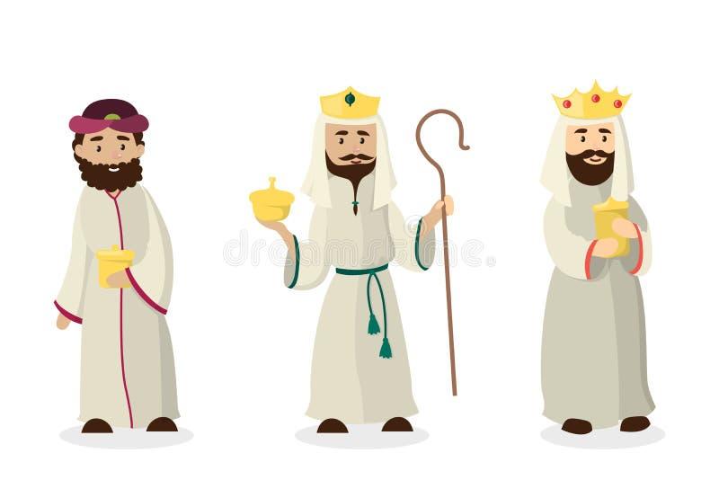 三位魔术家国王 皇族释放例证