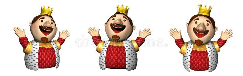三位3D国王 皇族释放例证