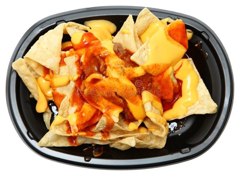 三倍层数烤干酪辣味玉米片 免版税图库摄影