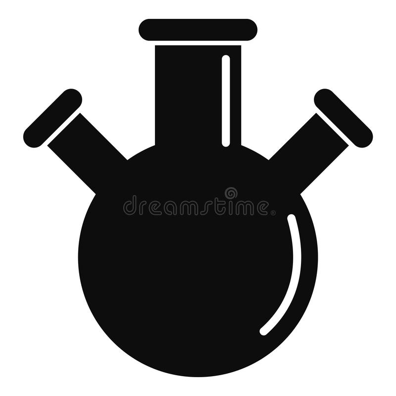 三倍烧瓶象,简单的样式 皇族释放例证