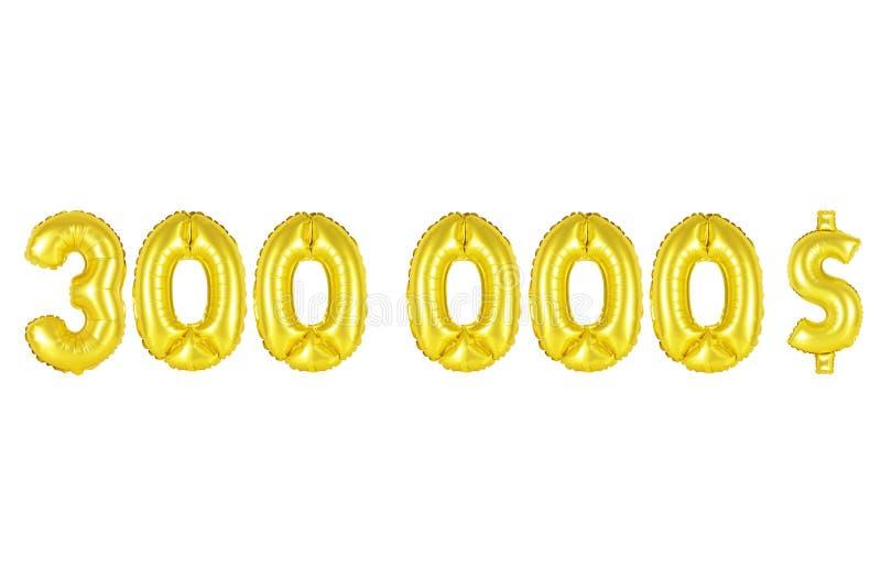 三十万美元,金子颜色 库存图片