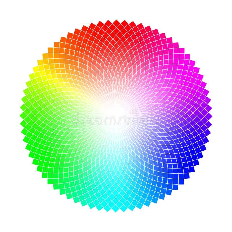 三原色圆形图或圈子与coloristic变异圆桌 皇族释放例证
