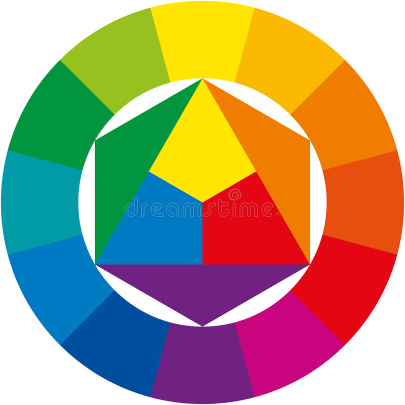 三原色圆形图 库存例证