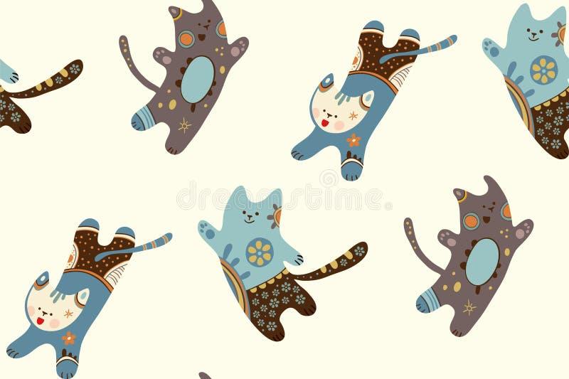 三只乐趣跳跃的猫 库存照片