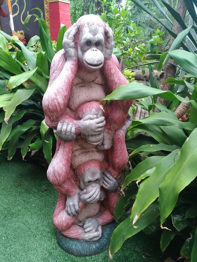 三只猴子 库存照片