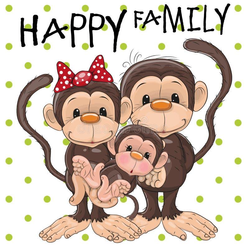 三只猴子 皇族释放例证